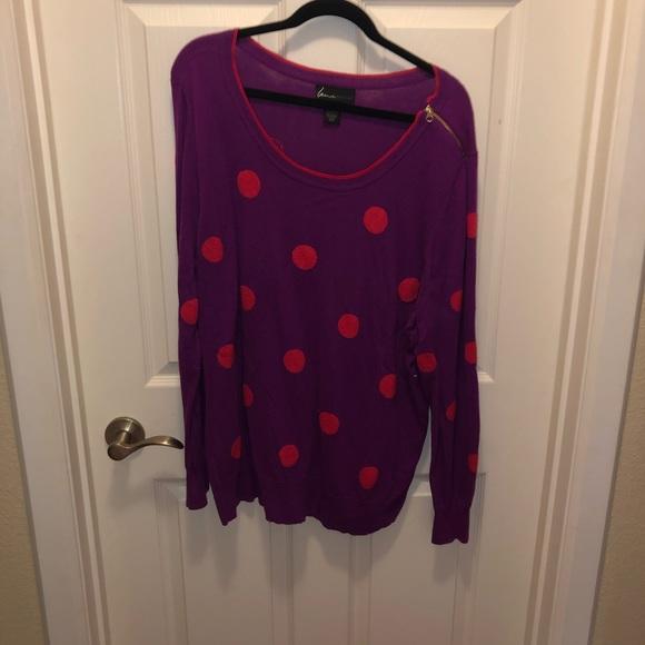 Lane Bryant Sweaters - Polka dot Sweater